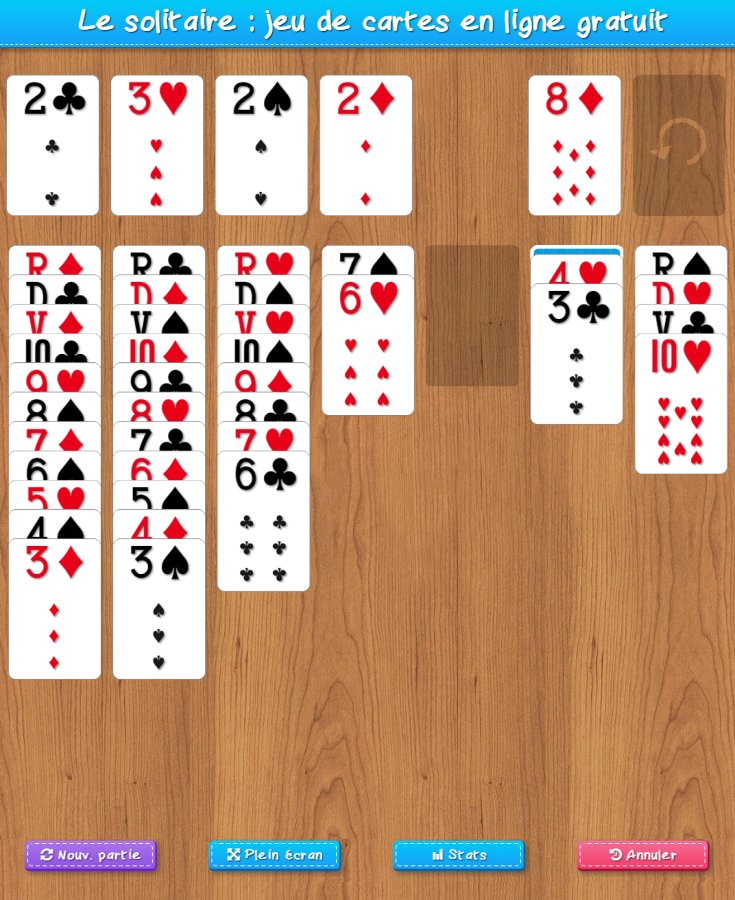 jeux de carte gratuit solitaire Le solitaire : jeu de cartes gratuit sans inscription, en français
